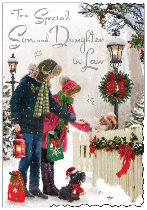 Special son & daughter in law Christmas card