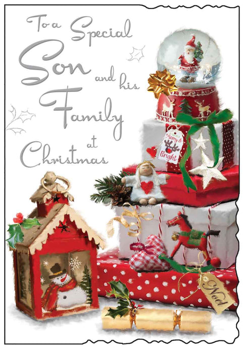 Special son & his family at Christmas card