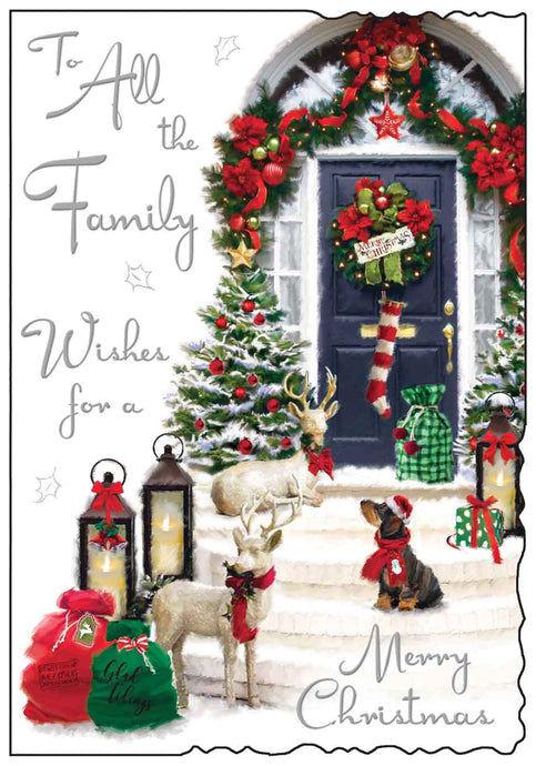 To all the family wishes for a merry Christmas card