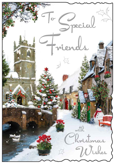 To special friends with Christmas wishes card