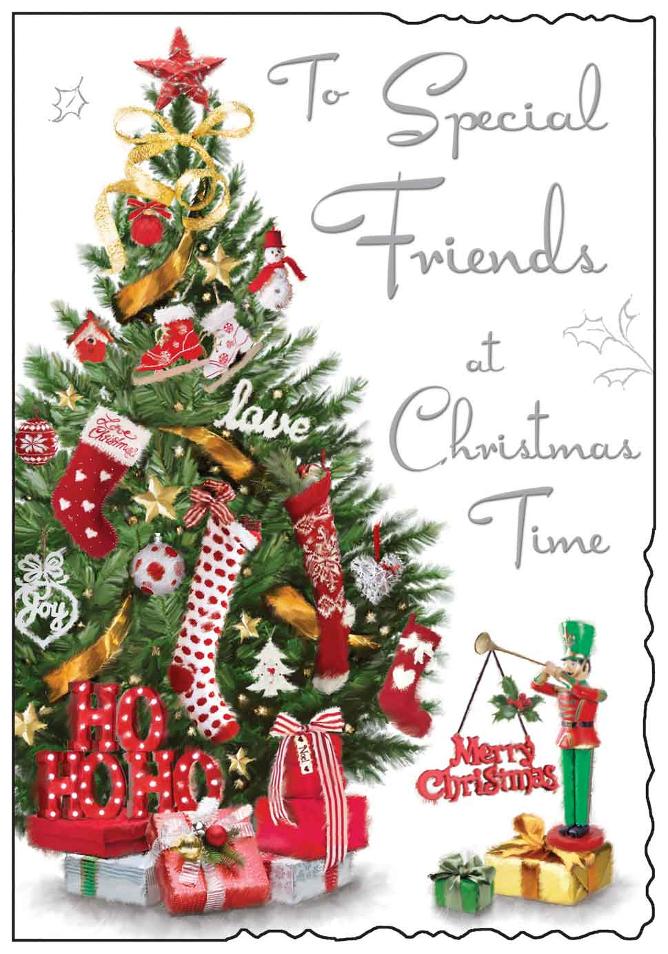 Special friends at Christmas time card