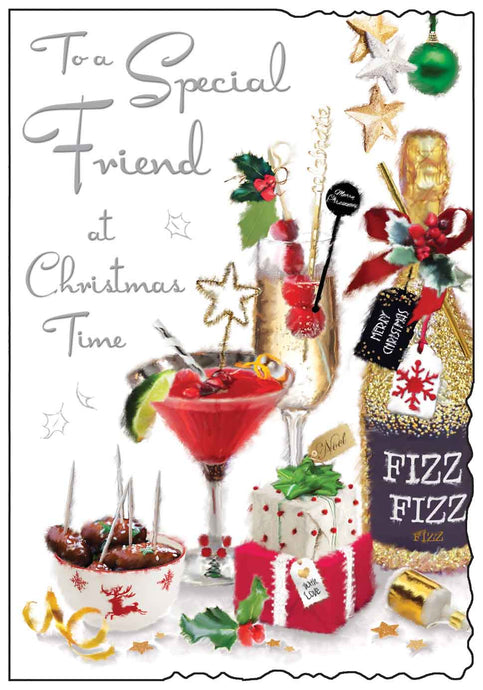 To a special friend at Christmas time card