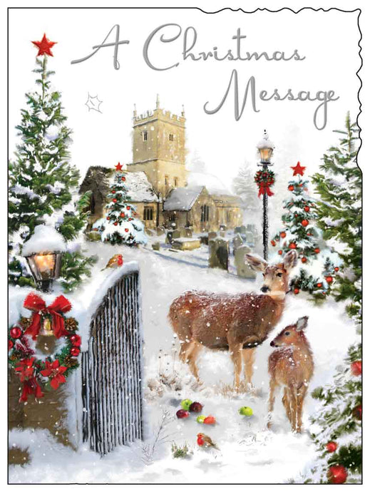 'A Christmas message' Christmas card