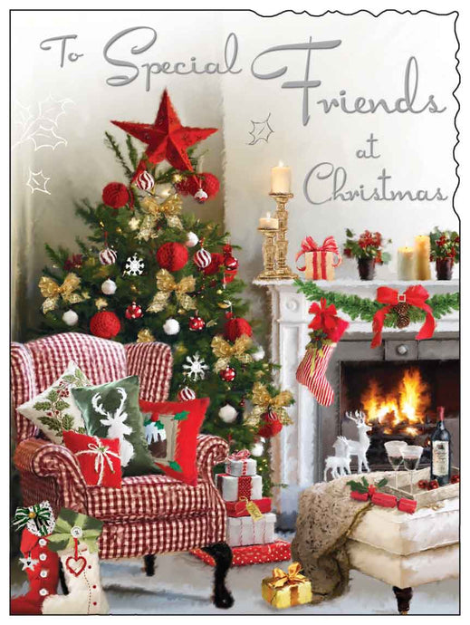 To Special friends at Christmas card