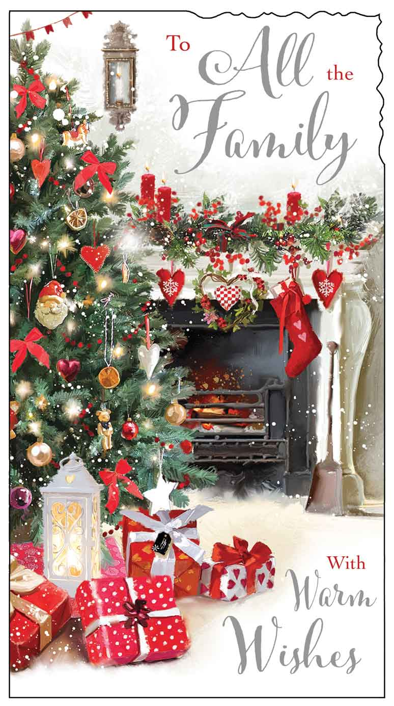 To all the family with warm wishes Christmas card