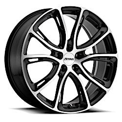 PETROL P5A 17x7.5 5/114.3 ET40 CB76.1 GLOSS BLACK W/ MACHINE CUT FACE