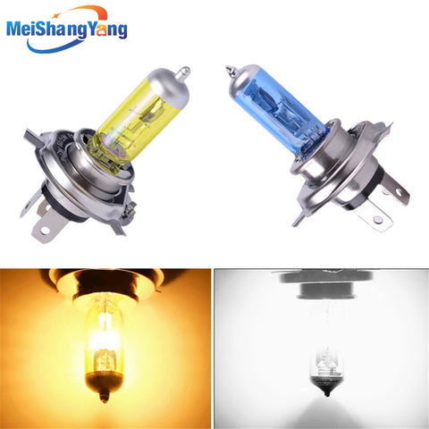H4 12V 55w 100W lamp 6000k/3000k 12v White / Yellow fog lights halogen bulb