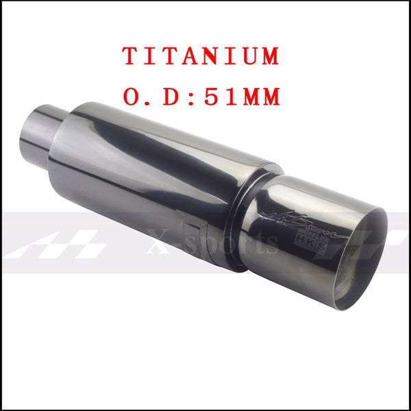 Car Exhaust Systems Muffler Tip Tail Pipe High Quality Universal Stainless Steel