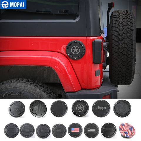MOPAI Tank Covers for Jeep Wrangler JK 2007-2017 Fuel Tank Cap