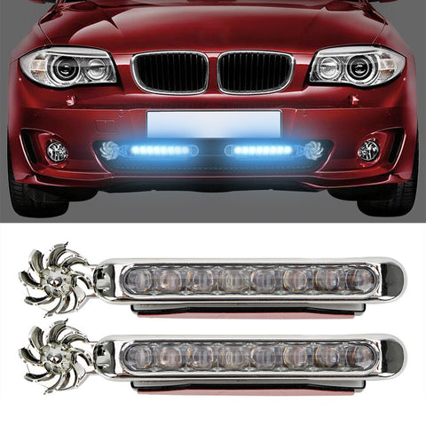 LED Wind Powered Car Daytime Running Light Vehicle Lights
