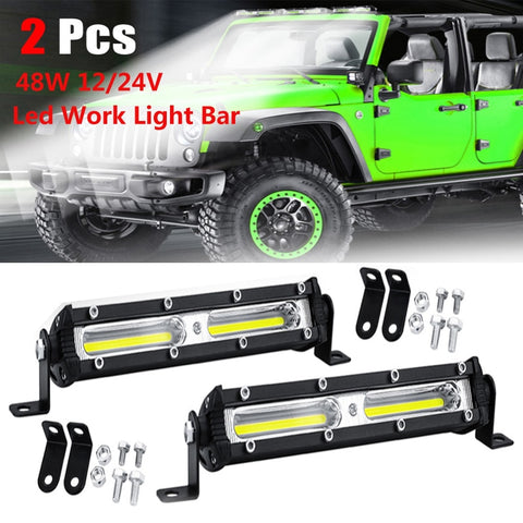 Driving Fog Offroad LED Work Car Light 48W 12V-24V Universal 2Pcs