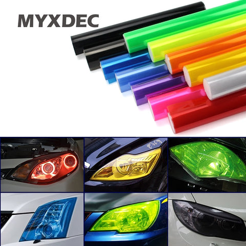 "Auto Car Light Headlight Taillight Tint Vinyl Film 30cmx1m 12""x40"""