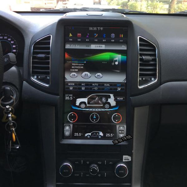 Vertical Screen Android OS 7.1  Multimedia GPS for Chevrolet Captiva 11-17