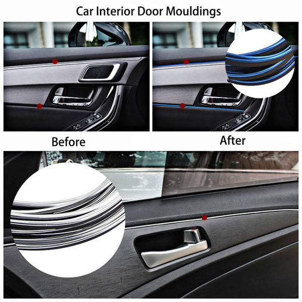 5M Car Styling Stickers and Decals Interior Mouldings Decoration 3D Thread