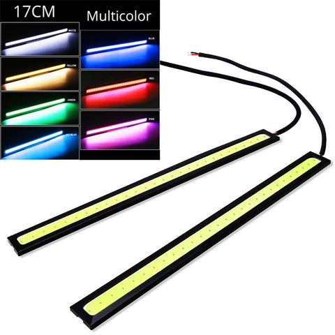 1pcs 17cm Universal Daytime Running Light Car COB DRL LED Strip Light