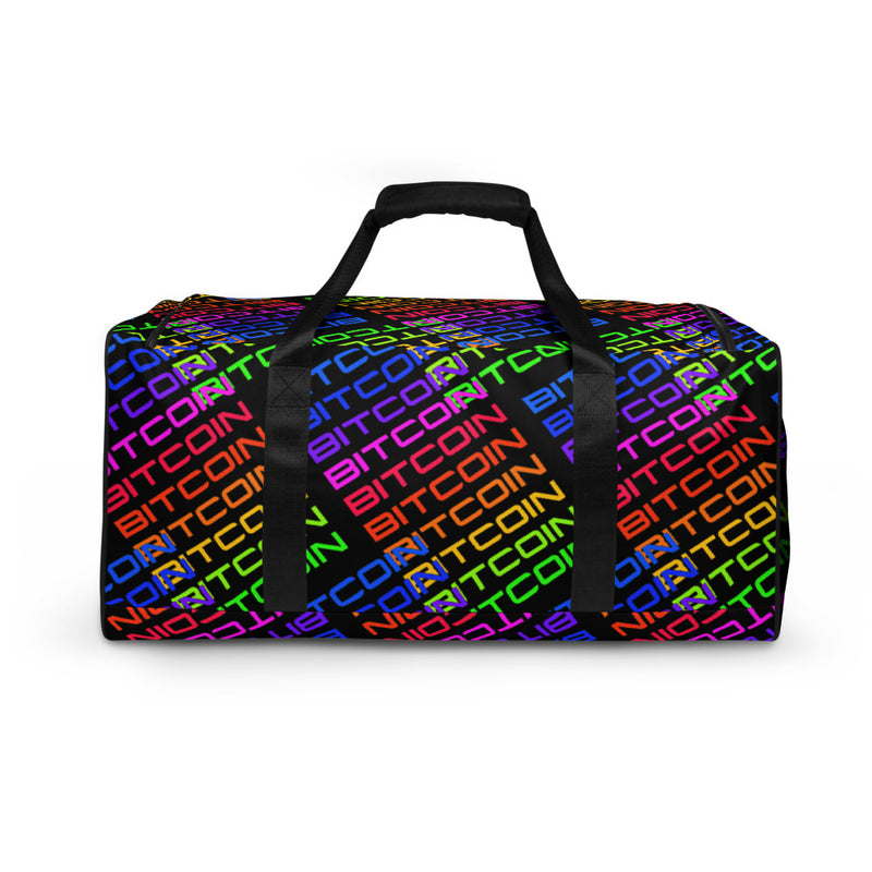 Neon Bitcoin Duffle bag