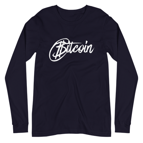 Bitcoin Marker Long Sleeve Shirt