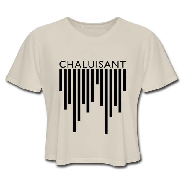 Chaluisant Cropped T-Shirt - White / Dust 1