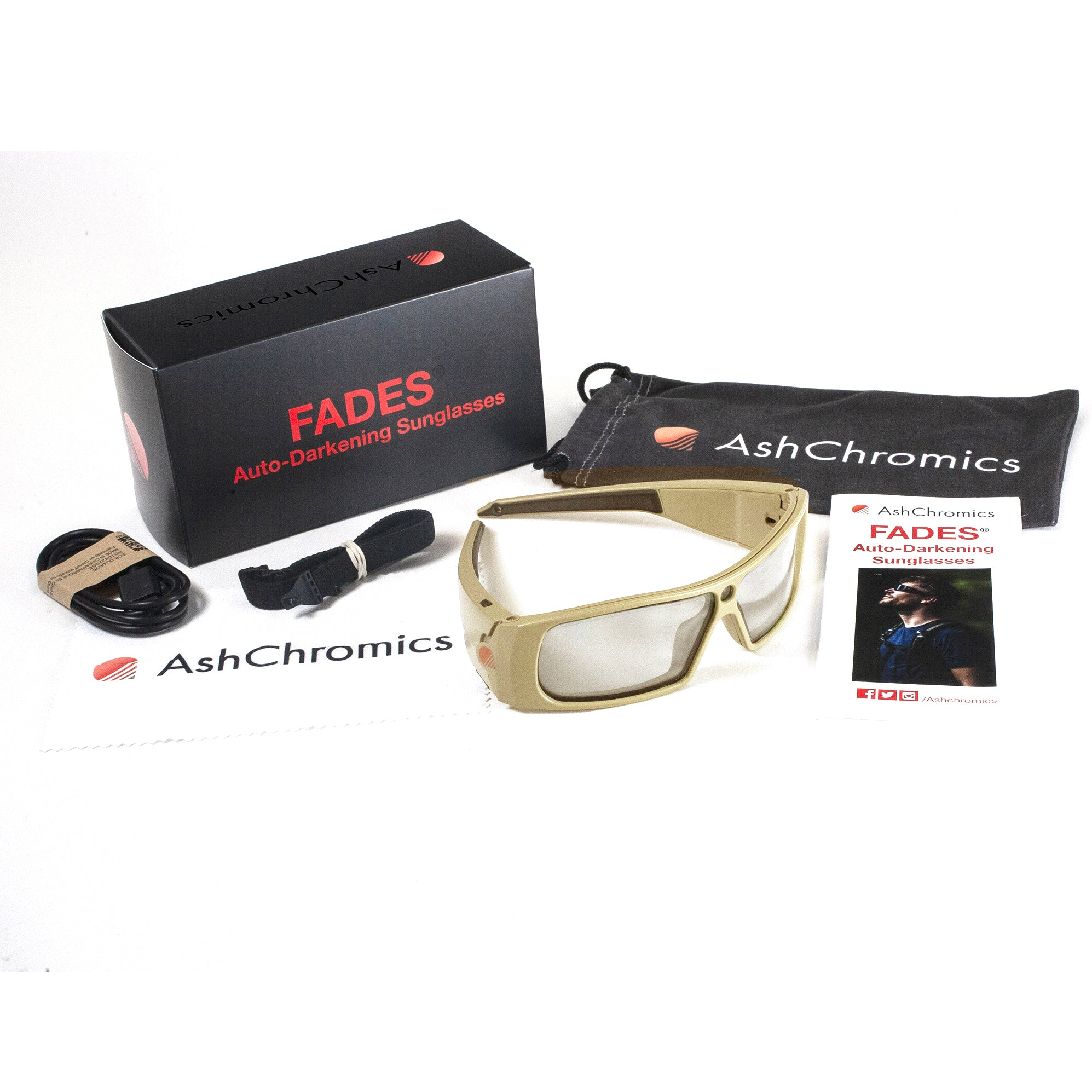 Fades Auto Darkening Motorcycle Sunglasses Package