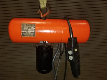 CM Industrial Lodestar hoist, USED CONDITION, 1/4T capacity, 10 ft lift, 230/460V, 32 FPM, Model C