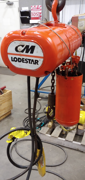 CM Industrial Lodestar Hoist, Model B ,USED CONDITION, 1/4 Ton Cap, 10 FT Lift, 230/460, 16FPM