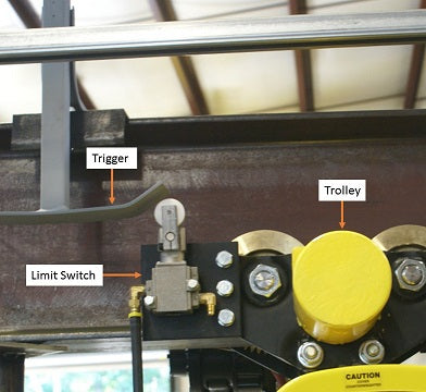 Trolley Travel Limit Switch Trigger
