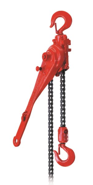 05107W G Series Ratchet Lever Hoist, 1-1/2 Ton Capacity, 57 in Lift, 18.75 in Handle, Double Pawl