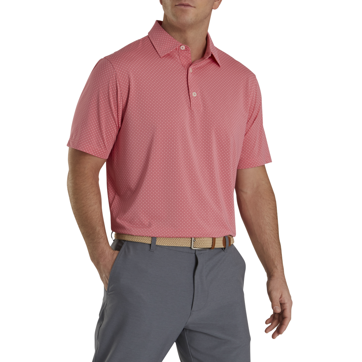 FootJoy Stretch Lisle Dot Print Polo
