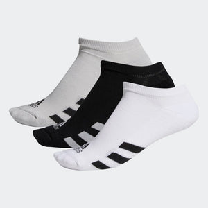 Adidas Men's 3-Pack No-Show Socks - Assorted Colours