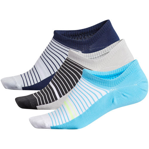 Adidas Women's 3-Pack No Show Socks Assorted Colours