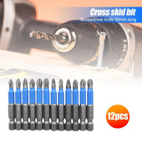 12pcs/set Magnetic Screwdriver S2 Steel Electric Screw Driver Bits Screwdriver Drill Bit PZ1, PZ2, PZ3, PH1, PH2, PH3