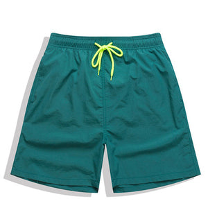Men's Quick-drying Solid Swimwear Breathable Beach Swimming Trunk Shorts