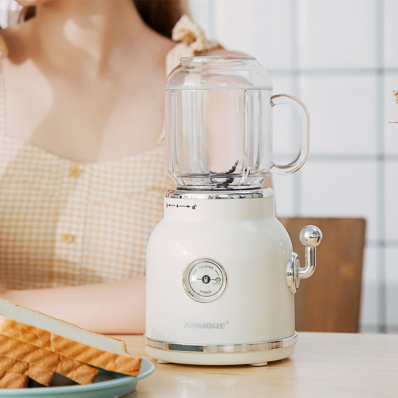 Juice Blender Retro Fruit Juicer Baby Food Milkshake Mixer Multifunction Juice Maker Machine Portable Fruit Blender