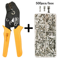 SN-48B Wire Crimping Plier 0.5-2.5mm2 20-13AWG Precision Jaw with 500pcs/lot TAB 2.8 4.8 Terminals Sets Tools
