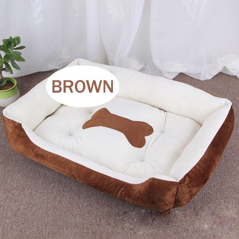 Pet bed bone warm bed linen washable cat house cotton puppy washed