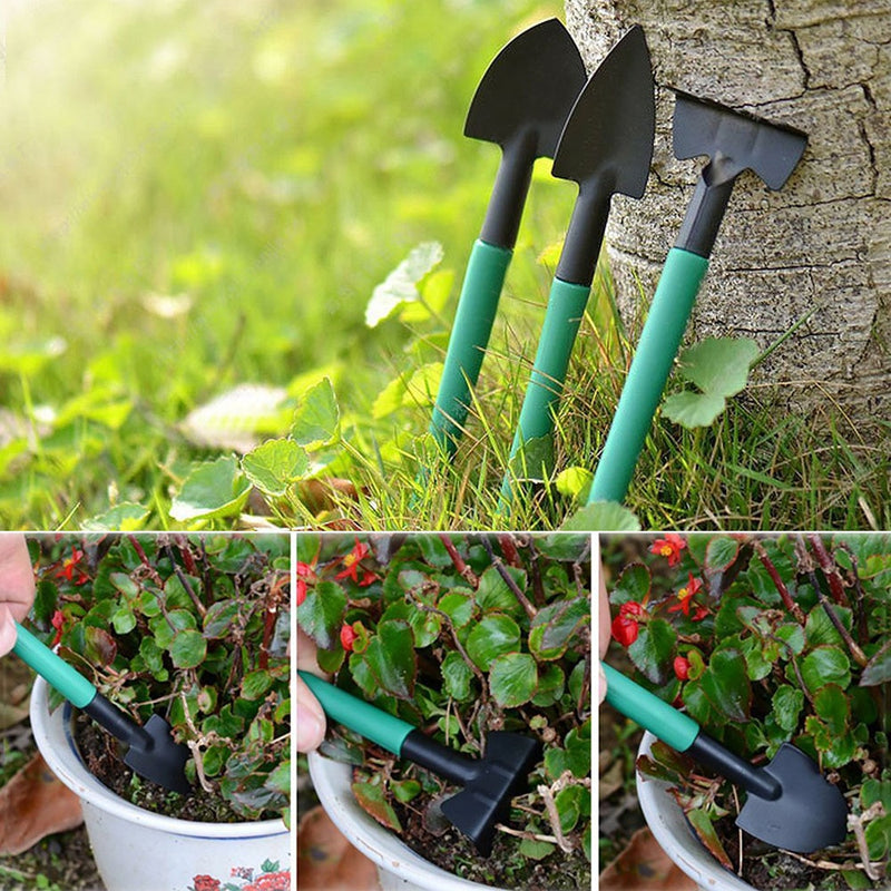 Garden Tool Set Kids 10 Pieces Hand Tool With Trowel Pruner Rake Shovel Grass Shear Spray Bottle With Storage Case