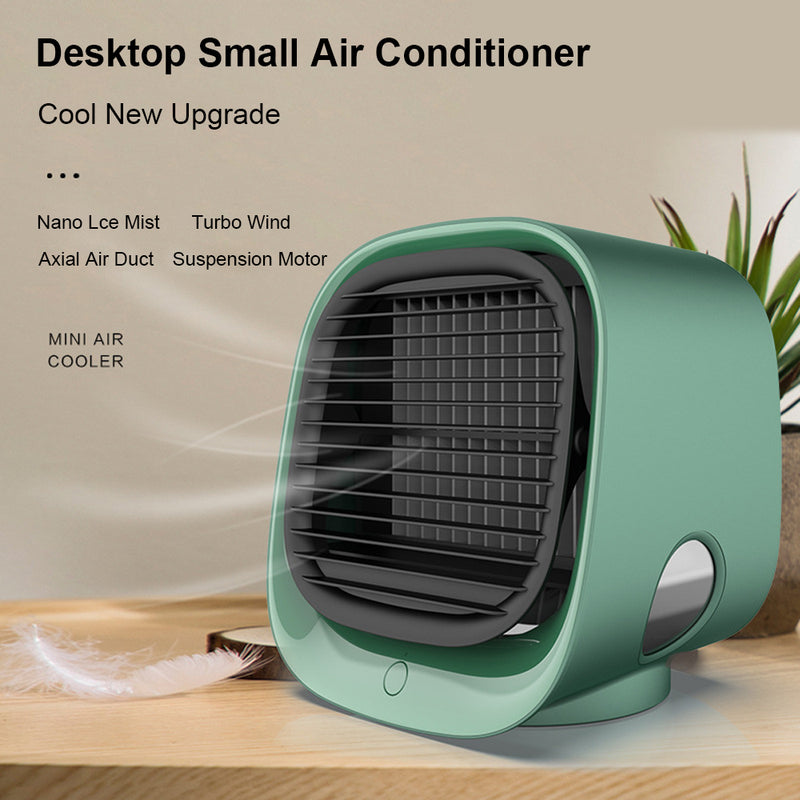 Air Conditioner Air Cooler Portable 4 in 1 Mini USB Fan Purifier Humidifier Desktop Cooling Fan 3 Speeds For Home Room Office