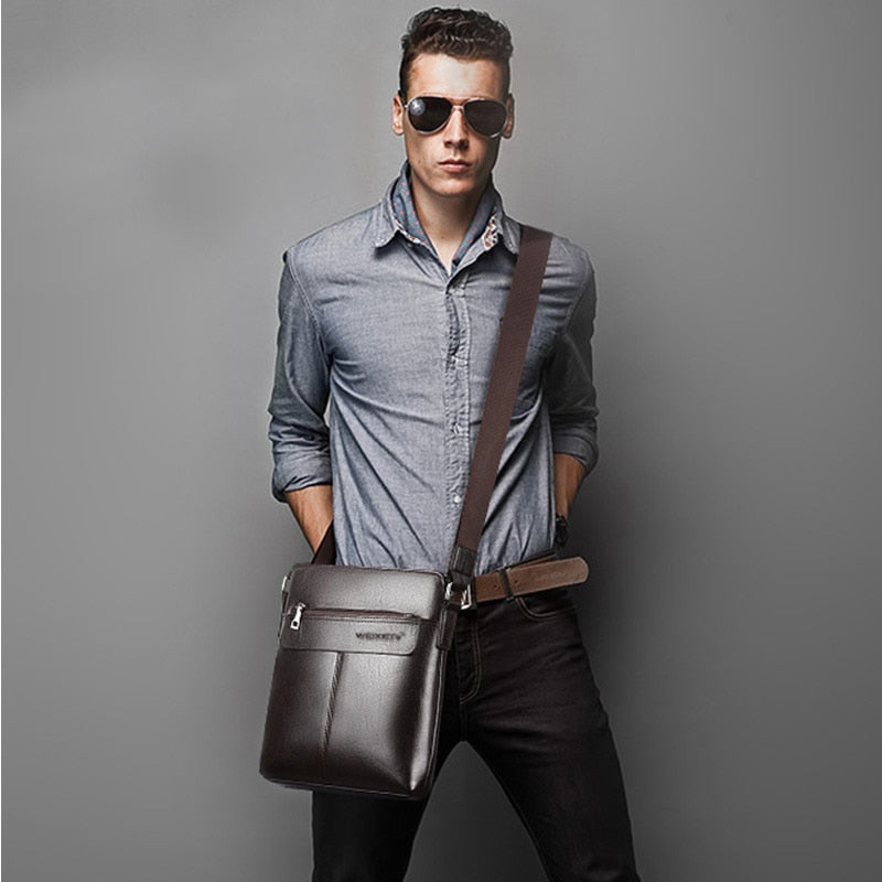 Retro Men Satchels Crossbody Bags Business Small Briefcase Shoulder Bag Man Luxury Brand Casual Messenger Bag Male Pu Leather