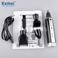 Kemei KM - 6630 4 in 1 Nose Hair Beard Eyebrow Rechargeable Electric Trimmer Electric Nose Trimmer Ear Shaver Hair Cliper