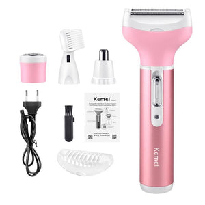 Electric Shaver 4 in 1 Rechargeable Hair Trimmer Epilator Eyebrow Nose Trimmer Razor