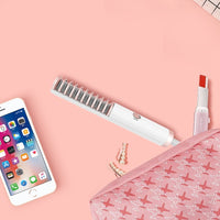 Mini Hair Straightener Brush Beard Comb Flat Iron Styler Mini hair styling tool little comb for straigh