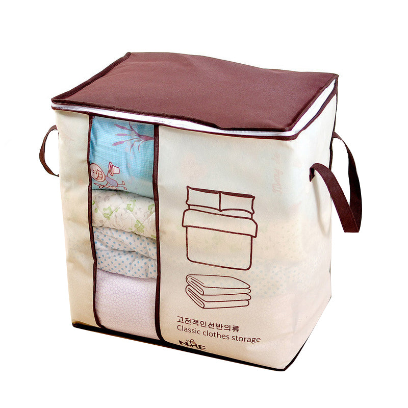 Non-Woven Clothes Storage Bag Save Space Organizador Under Bed Storage Box Clothes Divider Organizer Quilt Bag Home Organizer