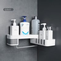 Corner Shower Shelf Bathroom Shampoo Shower Shelf Holder Kitchen Storage Rack Organizer Wall Mounted Bathroom Accessories