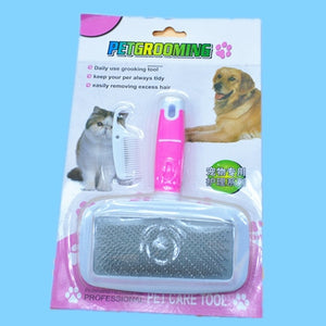 Pet Hair Removal Combs Fur Cleaning Large Size Combs Tool Candy Color Non-slip
