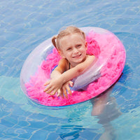 Pool Floating Mattress Summer Swim Circle Float Water Pool Party Inflatable Swimming Ring Float Round Feather Seat Toys