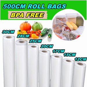 7 Different Size Transparent Vacuum Sealer Bags Rolls Food Saver Seal Storage Package Bags COD