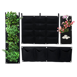 Gardening Grow Pocket Indoor Outdoor Wall Hanging Planting Storage Bag Seedling Bags COD