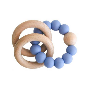 Beechwood Teether Rings Set - Blue