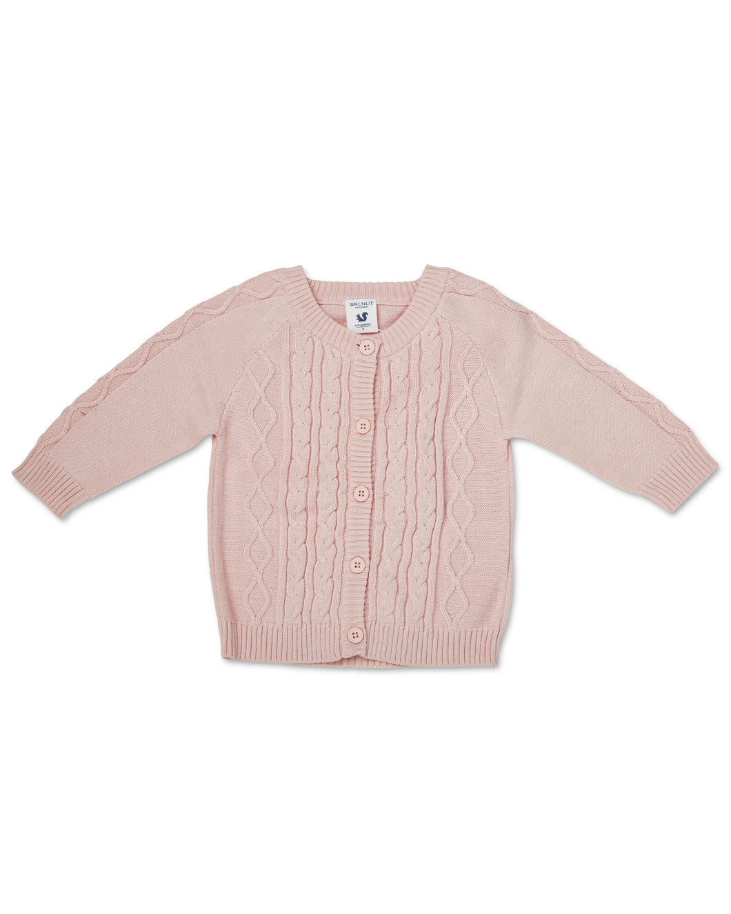 Bodhi Cable Knit Cardigan - Pale Pink