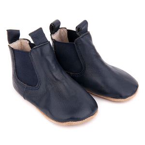 Pre-Walker Leather Riding Boots - Navy